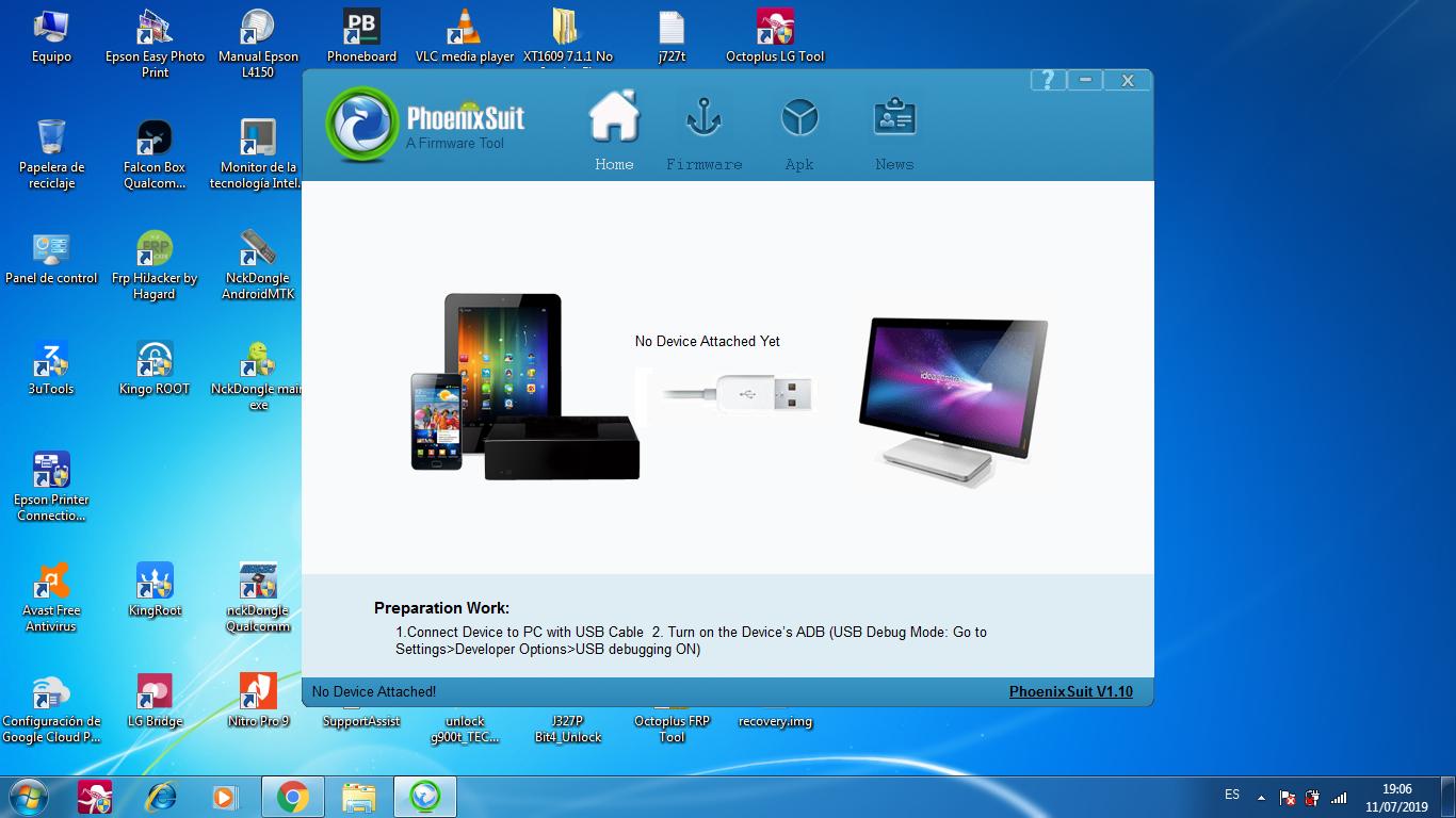 phoenix suite tool para windows 7, 8,10